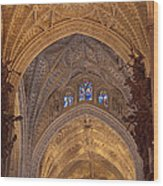 Beautiful Arches Of Seville Cathedral Wood Print by Viacheslav Savitskiy