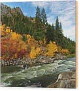 Beautiful Autumn Wood Print by Dan Mihai