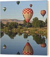 Beautiful Balloon Day Wood Print