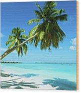 Beautiful Beach Resort Wood Print
