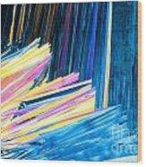Beautiful Benzoic Acid  Microcrystals Abstract Art Wood Print
