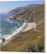 Beautiful Big Sur Coastline Wood Print