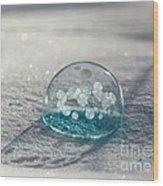 Beautiful Blue Bubble Wood Print