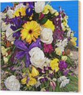 Beautiful Bouquet Of Flowers Wood Print