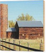 Beautiful Brick Silo Wood Print