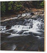 Beautiful Cascade In Western Ghats In Karnataka India Wood Print