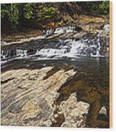 Beautiful Cascade In Western Ghats Karnataka India Wood Print