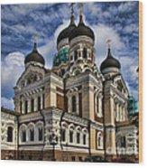 Beautiful Cathedral In Tallinn Estonia Wood Print