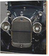 Beautiful Classic Car Front View Wood Print