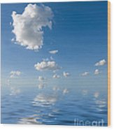 Beautiful Clouds And Sea Wood Print by Boon Mee