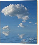 beautiful Clouds Wood Print
