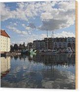 Beautiful Clouds Over Motlawa River - Gdansk Wood Print