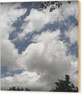 Beautiful Clouds Roll By Wood Print