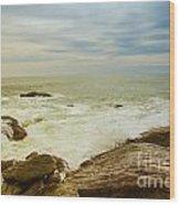 Beautiful Coastal Landscape Wood Print