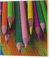 Beautiful Colored Pencils Wood Print