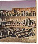Beautiful Colosseum Rome Wood Print