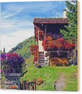 Beautiful Cottage Wood Print