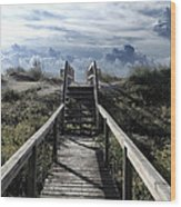Beautiful Day At Cape Hatteras Wood Print by Patricia Januszkiewicz