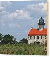 Beautiful Day At East Point Lighthouse  Wood Print