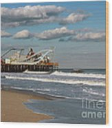 Beautiful Day At The Beach Wood Print by Sami Martin