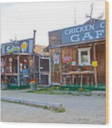 Beautiful Downtown Chicken-alaska Wood Print