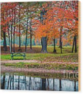Beautiful Fall Foliage In New Hampshire Wood Print