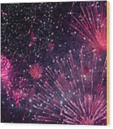 Beautiful Fireworks 12 Wood Print