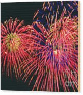 Beautiful Fireworks 14 Wood Print