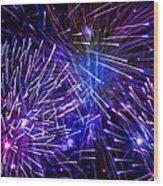 Beautiful Fireworks  3 Wood Print