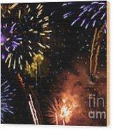 Beautiful Fireworks 5 Wood Print