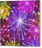 Beautiful Fireworks  6 Wood Print