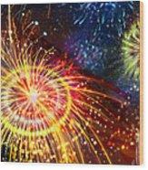 Beautiful Fireworks 8 Wood Print