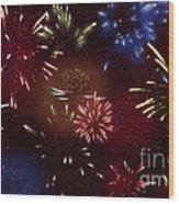 Beautiful Fireworks 9 Wood Print