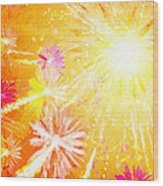 Beautiful Fireworks Wood Print