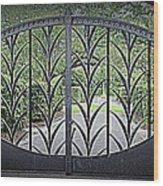 Beautiful Gate Wood Print