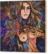 Beautiful Goddess Wood Print
