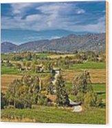 Beautiful Green Scenery Of Prigorje Region Wood Print