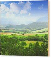 Beautiful Greens Landscape Wood Print