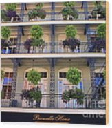 Beautiful Hotel In New Orleans Wood Print
