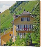 Beautiful House In Mont Blanc Wood Print
