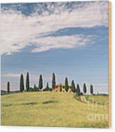 Beautiful House In Val D'orcia - Tuscany - Italy Wood Print