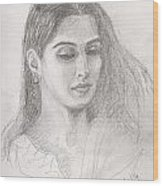 Beautiful Indian Woman Wood Print