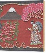 Beautiful Japan Wood Print by Otil Rotcod