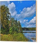 Beautiful Lake Abanakee - Indian Lake New York Wood Print by David Patterson