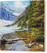 Beautiful Lake Agnes Wood Print