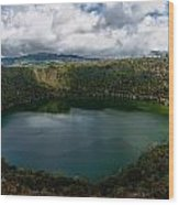 Beautiful Lake Guatavita Wood Print