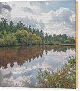 Beautiful Lake Reflections Wood Print