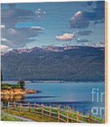 Beautiful Lake View Wood Print