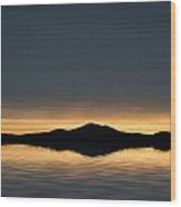 Beautiful Landscape Seascape Vibrant Sunset Wood Print