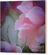 Beautiful Lavender And Purple Roses Wood Print
